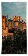 Segovia Alcazar And Cathedral Golden Hour Bath Towel
