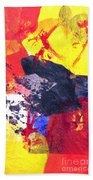 Semi-abstract Collage Hand Towel