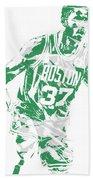 Semi Ojeleye Boston Celtics Pixel Art 2 Bath Towel