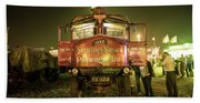Sentinel Steam Bus By Night  Hand Towel