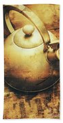 Sepia Toned Old Vintage Domed Kettle Hand Towel