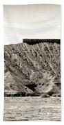 Sepia Tones Nature Landscape Nevada  Bath Towel
