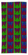 Serendipity Butterflies Blueredgreen 14of15 Bath Towel