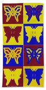 Serendipity Butterflies Brickgoldblue 1 Bath Towel