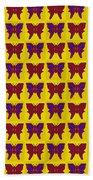 Serendipity Butterflies Brickgoldblue 26 Bath Towel