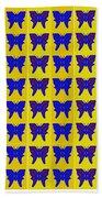 Serendipity Butterflies Brickgoldblue 27 Bath Towel