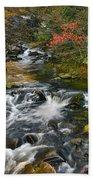 Serene Mountain Stream Bath Towel