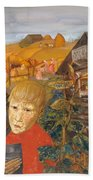 Sergei Esenin 1895-1925 As A Youth, Boris Grigoriev Bath Towel