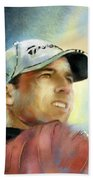 Sergio Garcia In The Castello Masters Hand Towel