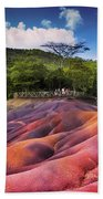Seven Colored Earth In Chamarel. Mauritius Hand Towel