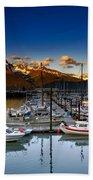 Seward Alaska Boat Marina Bath Towel