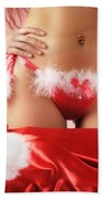 Sexy Woman Preparing For Christmas Holidays Bath Towel
