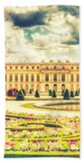 Shabby Chic Hdr Panorama Versailles Paris Bath Towel