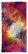 Shades Of Red Abstract Bath Towel