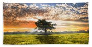 Shadows At Sunset After The Rain Hand Towel