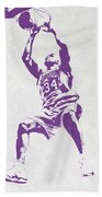 Shaquille O'neal Los Angeles Lakers Pixel Art Bath Towel