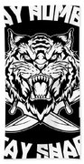 Sharp Tiger Hand Towel