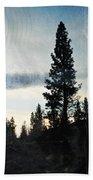 Shasta Trinity National Forest Sunrise Portrait Bath Towel