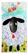 Sheep Birding Bath Towel