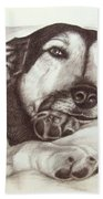 Shepherd Dog Frieda Bath Towel