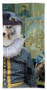Shetland Sheepdog Art Canvas Print - The Painter And His Studio Bath Towel