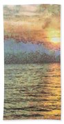 Shimmering Light Over The Water Bath Towel