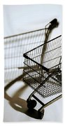 Shopping Cart Reflection Art  Bath Towel