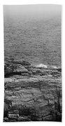 Shoreline And Shipwreck - Portland, Maine Bw Bath Towel