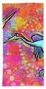 Siberian Cranes Bath Towel