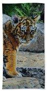 Siberian Tiger Cub Bath Towel