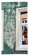 Sibiu Window Reflections - Romania Bath Towel