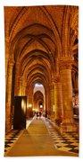 Side Hall Notre Dame Cathedral - Paris Bath Towel