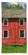 Side Of Barn And Windows At Old World Wisconsin Bath Towel