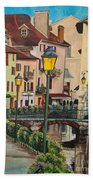Side Streets In Annecy Bath Towel