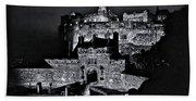 Sights In Scotland - Castle Bagpiper Bath Towel