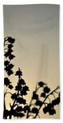 Silhouette Of Lilies Of The Valley 2 Bath Towel
