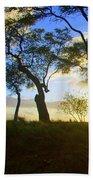 Silhouette Of Trees Bath Towel