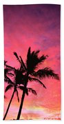 Silhouetted Palms Bath Towel