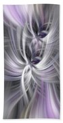 Silver Abstract Ascension. Mystery Of Colors Bath Towel