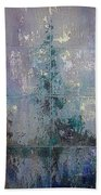 Silver And Silent Bath Towel by Shadia Derbyshire