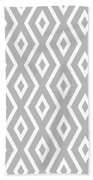 Silver Pattern Bath Towel by Christina Rollo