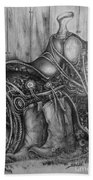 Silver Sands- Saddle And Boots Bath Towel