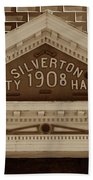 Silverton City Hall 1908 Bath Towel