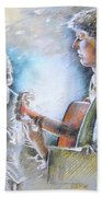 Singer And Guitarist Flamenco Bath Towel
