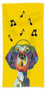 Singing The Blues - Dog Humor Bath Towel