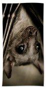 Single Bat Hanging Portrait Bath Towel