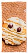 Single Homemade Mummy Cookie For Halloween Hand Towel