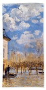 Sisley: Flood, 1876 Bath Towel