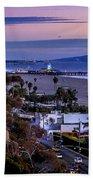 Sitting On The Fence - Santa Monica Pier Bath Towel