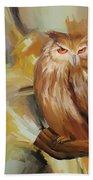 Sitting Owl Bath Towel